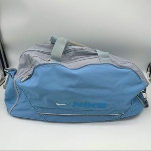 NIKE Light Blue & Gray Gym Bag EUC